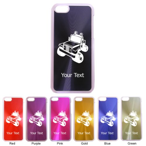 Personalized Engraved Jeep Hard Cd Style Aluminum Clear Side Case Cover For Apple Iphone 5C (Perfect Gift). Contact Seller For Personalization And Color Request Or Leave A Gift Message At Checkout! front-495748