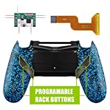 eXtremeRate Dawn Programable Remap Kit for PS4 Controller with Mod Chip & Redesigned Back Shell & 4 Back Buttons - Compatible with JDM 040 /050/055 - Textured Blue (Color: Textured Blue)