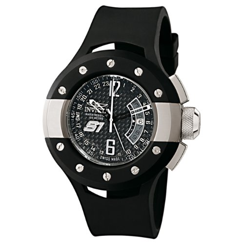 Invicta Men's 6842 S1 Collection Rally GMT Black Rubber Watch