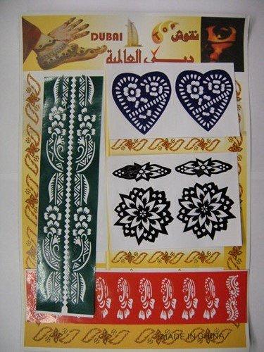Tapeten Abwaschbar Machen : Henna Schablonen Abwaschbar 3 Seiten ca. 50 Muster