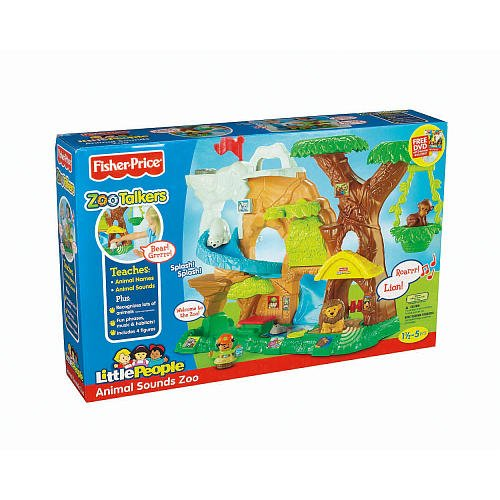 Fisher-Price Little People Zoo Talkers Animal Sounds Zoo Playset (Age: 18 Months - 3 Years) (Interactive Playset Which Brings Animals To Life In A Special Way!)