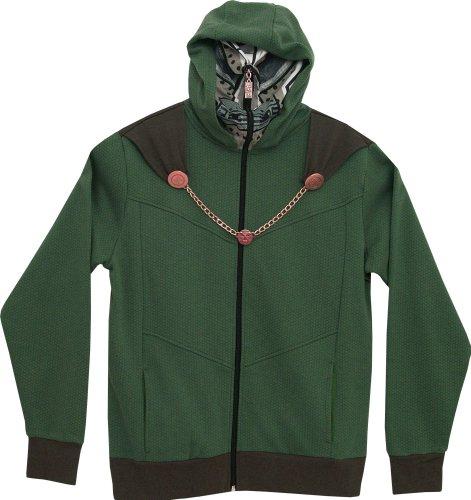 Marvel Men'S Doom I Am Hooded Costume Fleece, Juniper, Xx-Large front-618256