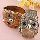 Fashion Vintage Tibet Carved Owl Bangle Open Cuff Bracelet Xmas Gift Color Random By Buyincoins