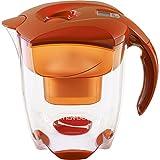 MAVEA 1005772 Elemaris XL 9-Cup Water Filtration Pitcher, Tangerine
