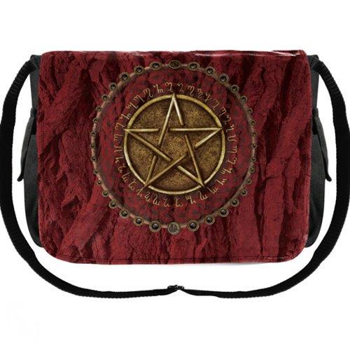 Luna Lakota Rosso Pentagramma Borsa Messenger