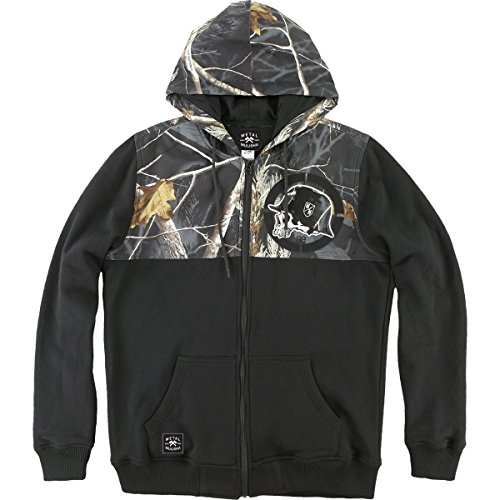 Metal Mulisha Mens Blackened Hoody Zip Sweatshirt Medium Black