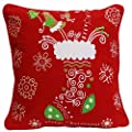 Christmas Stocking & Snowflakes Cushion BY Adam Linens