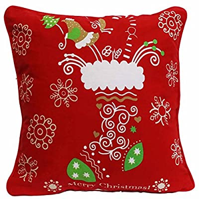 Christmas Stocking & Snowflakes Cushion BY Adam Linens