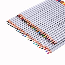 Abdtech 48 Assorted Color Art Colored Pencils/ Drawing Pencils for Artist Sketch / Secret Garden Coloring Book, Set of 48 Piece