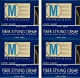 M Professional Hair Care for Men Fiber Styling Creme 3.53 Oz (Pack of 4)