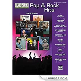 10 for 10 Sheet Music Pop & Rock Hits 2008 Edition: Piano/Vocal/Chords