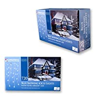 Christmas Workshop 87890 720 LED Snowing Icicle Lights - Blue from Benross Group