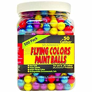 Buy Firepower .50 Caliber 500 Count Paintballs, Assorted Colors by Fire Power