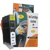Druckerpatrone schwarz XL Version mit ChipHP Deskjet 3070 3070A 3520 / HP Officjet 4620 4610 4622 / HP 5510 5512 5514 5515 5520 5524 5710 6510 6520 7510 7520 / HP Photosmart C 5324 5370 5373 5380 5383 5388 5390 5393 6324 6380 / HP PhotoSmart D 5460 5463 5468 / HP PhotoSmart Pro B 8550 8553 8558 / HP Photosmart Premium Fax All-in-One Printer - C309a C309g / HP Photosmart Premium e-All-in-One Printer - C310a C310b C310c / HP Photosmart Premium Fax e-All-in-One Printer - C 410 410b / HP Photosmart eStation Printer C 510 510a 510c / HP PhotoSmart B 010a 109a 109d 109f 109n 110a 110c 110e 111a 111c 111h 209a 209c 210a 210c 210d 211a / Kompatibel Patronen 1 x Schwarz 364BK XL