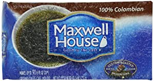 Maxwell House 100% Colombian Ground Coffee Medium Roast, 10.5-Ounce Vacuum Bag (Pack of 3) by Maxwell House