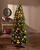 6-Ft. Pre-Lit Pop Up Christmas Tree (Clear Lights)