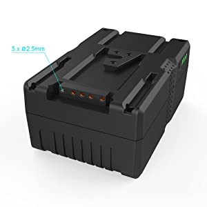 158Wh V Mount Battery for Video Camera Camcorder (TSA Approved for Airline Travel,158Wh Lithium-ion Adapter Charger V Lock Battery for Sony Camcorder/Video camera/BMCC/LED Panel) 14.8V 10700mAh,Black (Color: bl133)