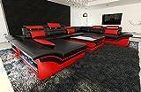 Mega-Wohnlandschaft-ENZO-XXL-LED-schwarz-rot