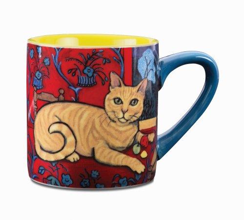 Paw Palettes Orange Tabby Catisse Ceramic Mug, 16-Ounce front-430588
