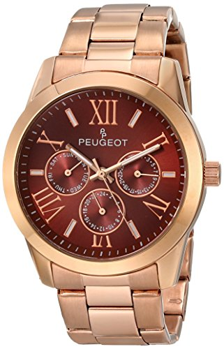 Peugeot Women's 7095BR Analog Display Japanese Quartz Rose Gold Watch