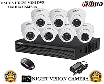 Dahua-DH-HCVR4108HS-S2-8CH-Dvr,-7(DH-HAC-HDW1000RP)-Dome-Cameras-(With-Mouse)