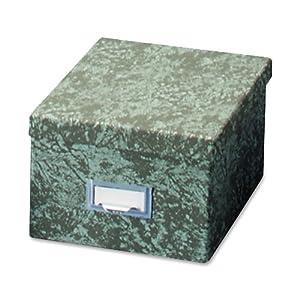 Globe-Weis Fiberboard Index Card Storage Box, 6 x 9 Inches, Green (96 GRE)