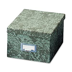 Globe-Weis Fiberboard Index Card Storage Box, 6 x 9 Inches, Green (96 GRE)