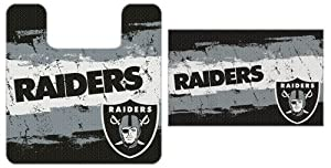 Oakland Raiders NFL Football Streak Series 2pc Bathroom Bath Rug Mat Set by Forever Collectibles