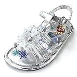 Frozen Elsa Anna Girls Silver Snowflake Sandals Shoes