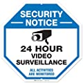 "Video Surveillance Sign, Large Rust Free 12x12"" Aluminum, For Indoor or Outdoor Use - By ARMO"