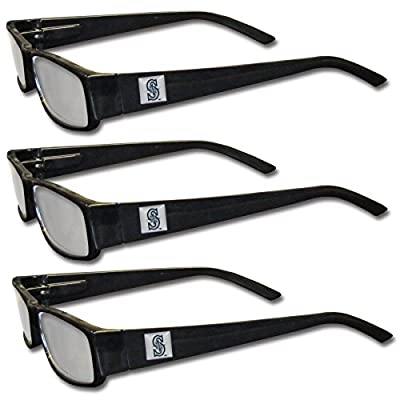 MLB Seattle Mariners Adult Reading Glasses (3-Pack)