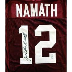 Joe Willie Namath Autographed Signed Alabama Jersey PSA DNA #3A94082