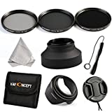 K&F Concept 72mm 3pcs ND2 ND4 ND8 Lens Accessory Filter Kit Neutral Density Filter fo
