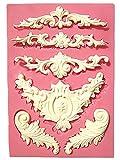 【シャルフィール】 彫刻 6個 作成 シリコンモールド ハンドメイド 用品 石鹸 ロウソク 粘土 細工 抜き型 (彫刻 5個作成)