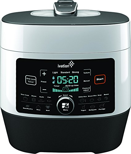 Find Bargain Ivation 8-In-1 Programmable Multi-Function Pressure Cooker; Steamer, Slow Cooker, Rice ...