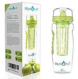 AquaFrut 32oz Fruit Infuser Water Bottle (Green)