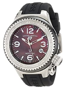 Swiss Legend Women's 11844D-BKBSA Neptune Black Mother-Of-Pearl Dial Diamond Accented Watch