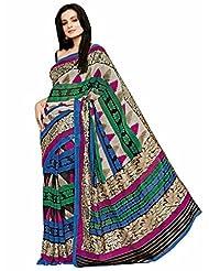 Vipul Cochin Silk Multicolor Patola Print Saree With Exclusive Foil