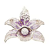 Deco Purple Orchid Brooch by Jeremy Tosh