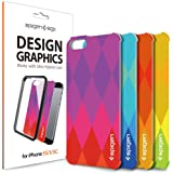 iPhone 5S Case, Spigen® iPhone 5S Interchangeable Graphic Skins [Ultra Hybrid Design Graphic] [Diamond] Customizable Clear Back Panel for ULTRA HYBRID SERIES CASE *** Case not included *** Diamond (SGP10580)