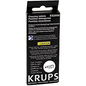 Krups 10 Cleaning Tablet Pack for Compact Fully Automatic Espresso Machines, Set of 2 from Krups