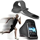 ( Grey ) Blackberry Bold 9790 Sports Running Jogging Ridding Bike Cycling Gym Arm Band Case Pouch Cover By ONX3