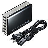 サンワサプライ 6ポートUSB充電器 ブラック  ACA-IP40BK