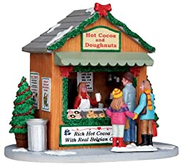 Lemax Christmas Village Collection Hot Cocoa Stand Table Piece #13906