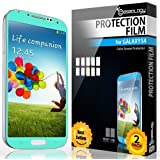 Galaxy S4 Screen Protector, Caseology [HD Clarity] Samsung Galaxy S4 Screen Protector [2-Pack] [Turquoise Mint] [3-Month Warranty] Color Film [Crystal Clear] Front Screen Protection Galaxy S4 Screen Protector (for Samsung Galaxy S4 Verizon, AT&T Sprint, T-mobile, Unlocked)