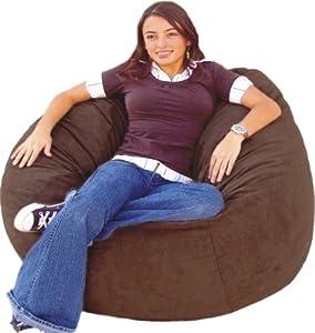 Fantastic Cozy Sack 4 Feet Bean Bag Chair Large Chocolate Bean Cjindustries Chair Design For Home Cjindustriesco