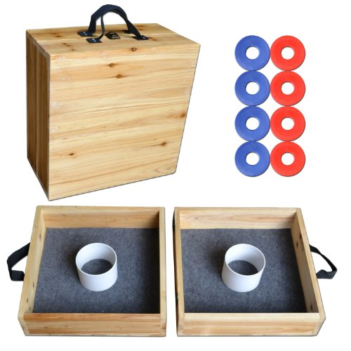 GoSports Pine Wood Washer Toss Game Set