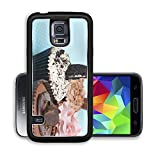 Liili Premium Samsung Galaxy S5 Aluminum Backplate Bumper Snap Case IMAGE ID 33567174 Chocolate Strawberry Cookies and cream cup cake on vintage blue table cloth