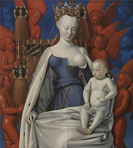 The Perfect Effect Canvas Of Oil Painting 'Jean Fouquet - Madonna Surrounded By Seraphim And Cherubim, 1452' ,size: 18x20 Inch / 46x51 Cm ,this Art Decorative Canvas Prints Is Fit For Basement Decor And Home Decor And Gifts (Greys Anatomy Merchandise T Shirt compare prices)