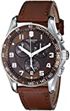 "Victorinox Men's 241653 ""Classic"" Stainless Steel Watch with Brown Leather Band"